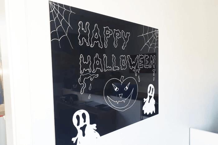 Magentpinnwand Glas Motiv Halloween