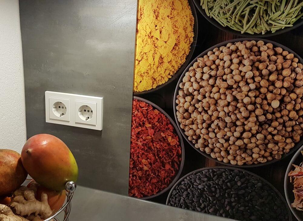 Küchenrückwand aus Glas Motiv Gewürze