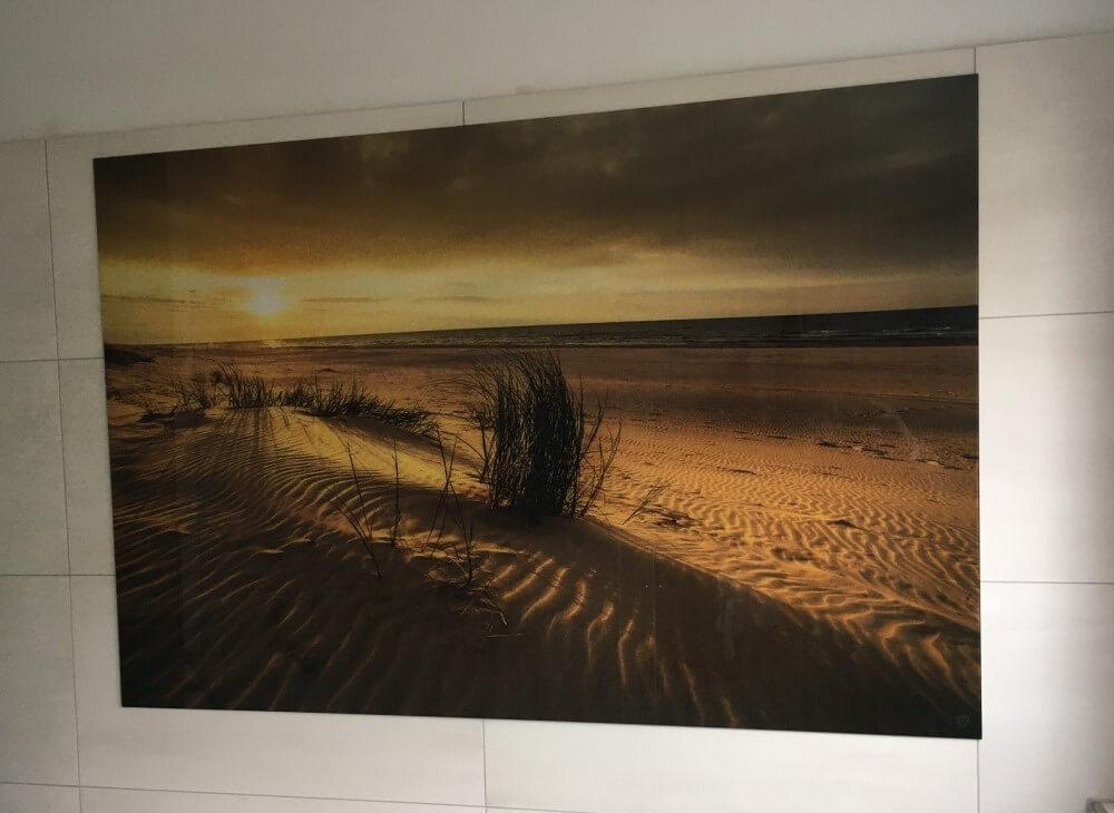 Wandbild aus Glas Motiv Strand