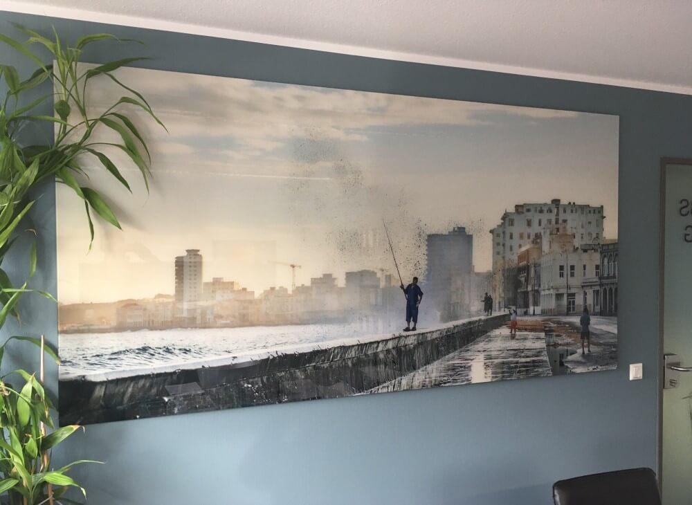 Wandbild aus Glas Motiv Kuba