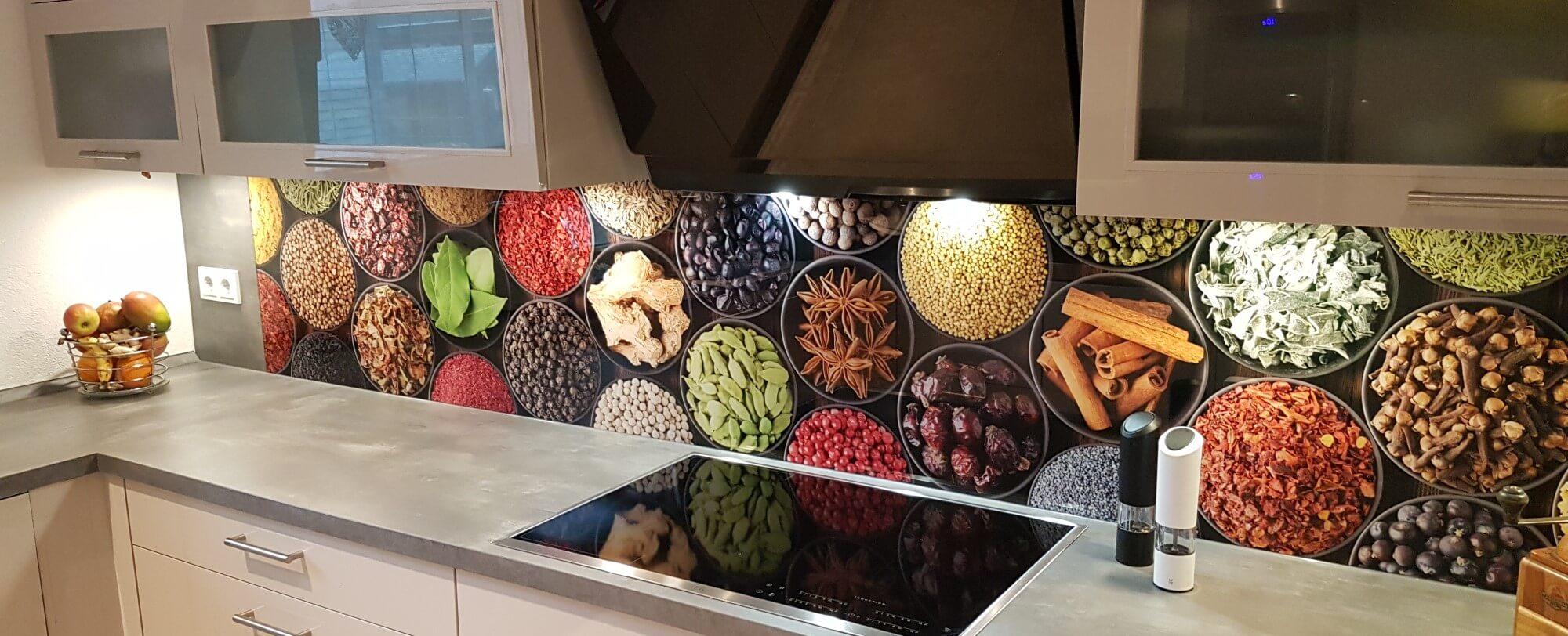 Küchenrückwand Gewürzmotiv